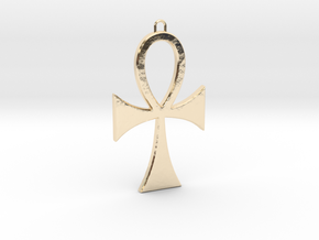Ankh-5 in 14k Gold Plated Brass