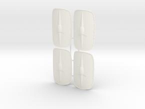 ROMAN SCUTUM 3 X4 in White Processed Versatile Plastic