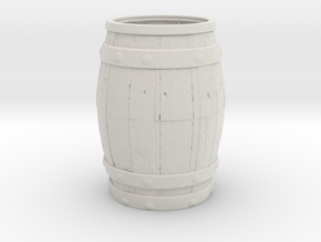 Barrel Toothpick Holder in Matte Full Color Sandstone