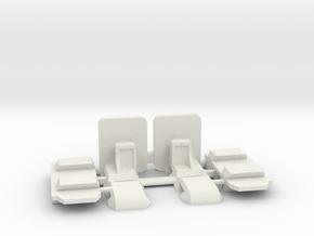 Mc Laren - Supports carrosserie réglables - v2 in White Natural Versatile Plastic