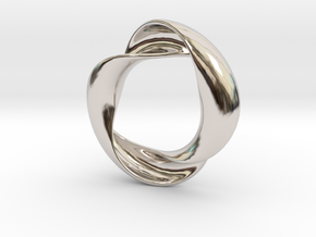 Mobius XIV in Rhodium Plated Brass