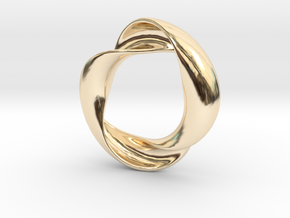 Mobius XIV in 14k Gold Plated Brass