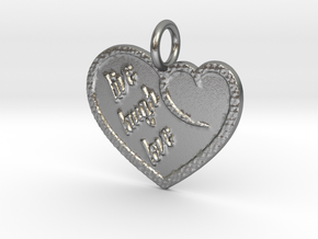 Live Laugh Love in Natural Silver