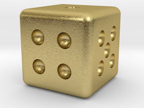 Classic Die in Natural Brass