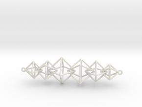 Interlocking Octahedron Necklace in White Natural Versatile Plastic