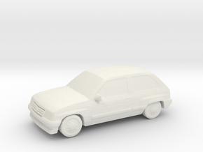Vauxhall Nova in White Natural Versatile Plastic