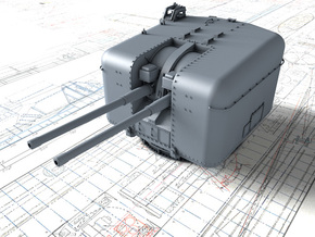 "1/350 4.5""/45 (11.4 cm) QF MKVI Gun x1 in Smoothest Fine Detail Plastic"