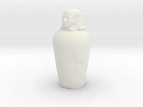 Printle Thing Canopic Jar - 1/24 in White Natural Versatile Plastic