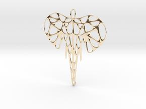 Elephant Voronoi Pendant in 14k Gold Plated Brass