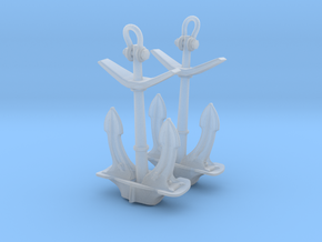 1/100 IJN Stern Anchor Set in Smooth Fine Detail Plastic