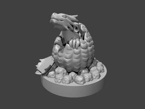 Baby Dragon Hatching in Smooth Fine Detail Plastic