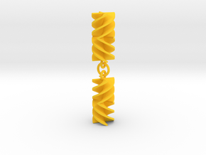 Absolute Rotini Earrings in Yellow Processed Versatile Plastic