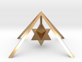 Golden Pyramid Star Tetrahedron in Polished Bronze