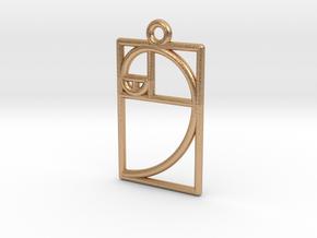 Golden Ratio Pendant in Natural Bronze
