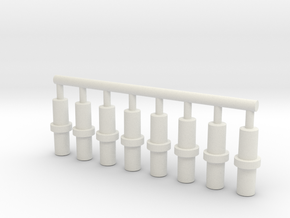 5mm Double-Ended Pegs in White Natural Versatile Plastic