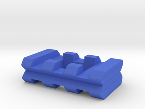 Back-to-Back Weaver Rails Adapter (3 Slots 10.16mm in Blue Processed Versatile Plastic