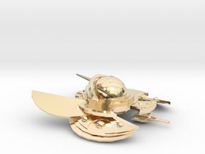 The Alien Swarmer in 14k Gold Plated Brass