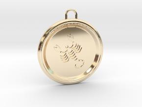scorpio-pendant in 14k Gold Plated Brass