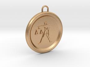 libra-pendant in Natural Bronze