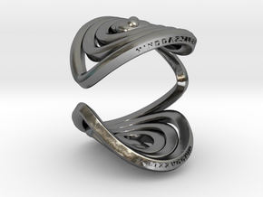 Serpentine Snake Ring: Smooth Pattern in Polished Silver