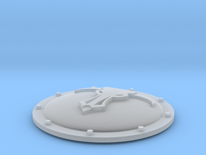Imperial Mecha (M) heraldry shield minotaurs 1 in Smooth Fine Detail Plastic