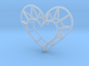 Minimalist Heart Pendant in Smooth Fine Detail Plastic