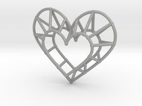 Minimalist Heart Pendant in Aluminum