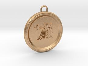 virgo-pendant in Natural Bronze