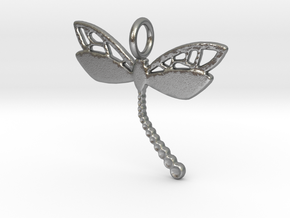 Kap crust tail Dragonfly  in Natural Silver