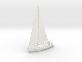 SailBoat Ver02 Scale N. No bumpers in White Natural Versatile Plastic