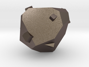 Adamantite Ore in Polished Bronzed-Silver Steel