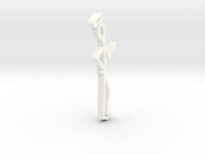 50 mm the saint logo in White Processed Versatile Plastic