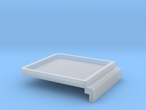Room Screen Blanking Plate in Smooth Fine Detail Plastic
