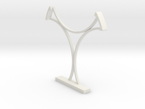 Swimming/Gymnastics Badge Free-Standing Holder 75m in White Natural Versatile Plastic