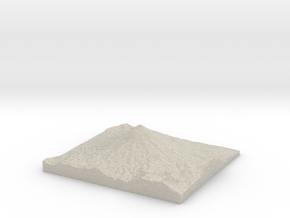 Model of Cerro Paimún in Natural Sandstone