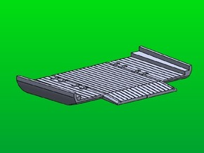 Improved Ribbon Bridge Ramp Bay in Green Processed Versatile Plastic: 1:144