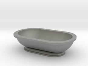 Scale Model Modern Bathroom Tub  in Gray PA12: 1:12