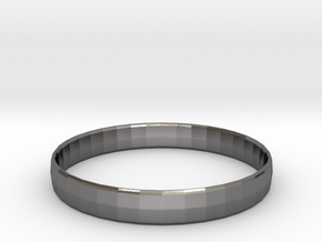Ima Edgededges Bangle - Bracelet in Polished Nickel Steel: Extra Small