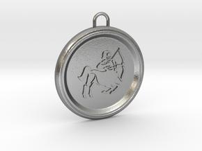 sagitarius-pendant in Natural Silver