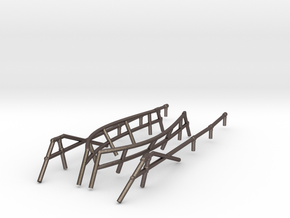 1/72 DKM Uboot VIIC 41 Hull Railing SET in Polished Bronzed-Silver Steel