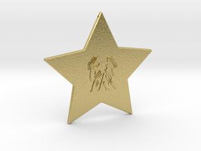 star-gemini in Natural Brass
