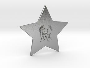 star-gemini in Natural Silver
