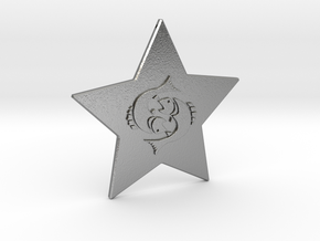 star-pisces in Natural Silver