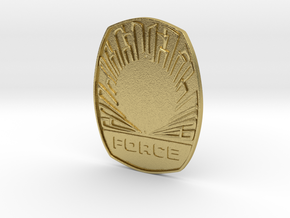 FORCE badge (Wallet) in Natural Brass