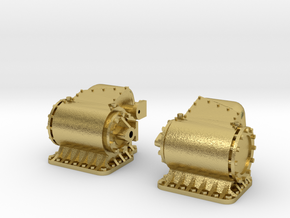 Cilinders SS 651, NS 8100 spoor 1 in Natural Brass