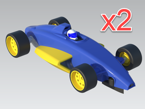 1:32 Formula Ford V3 - x2 Cars in White Natural Versatile Plastic