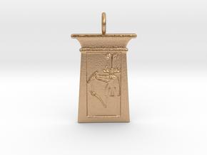 Enshrined Sobek amulet in Natural Bronze