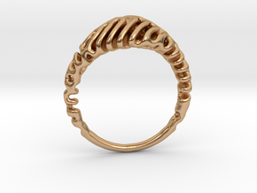 Reaction Diffusion Ring  5 in Polished Bronze