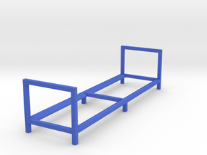 Tire Storage Rack 1/24 Simple Version in Blue Processed Versatile Plastic