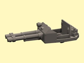 28mm open topped turret Taman 2x laser in White Processed Versatile Plastic